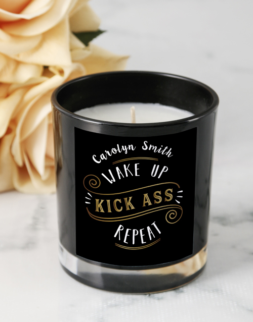 personalised: Personalised Kick Ass Candle!