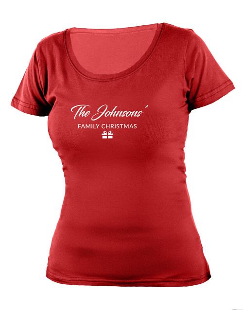 christmas: Personalised Family Christmas Ladies T Shirt!