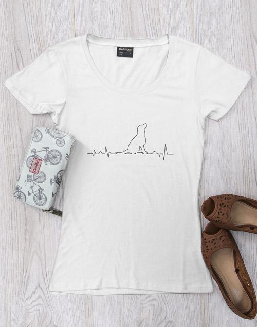 clothing: Personalised Dog Heartbeat T Shirt!