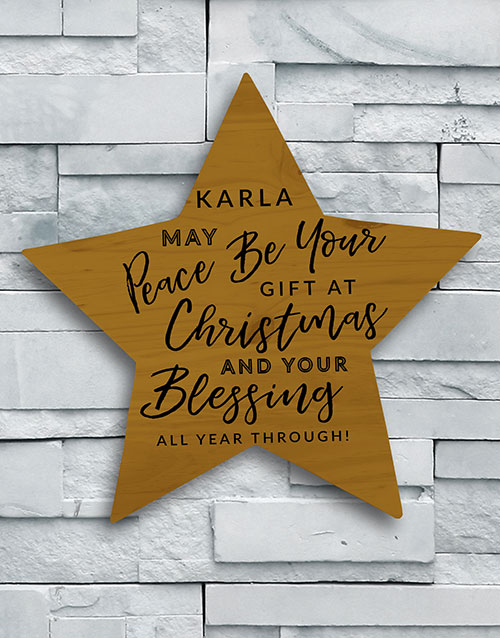 home-decor: Personalised Christmas Blessing Wall Art!