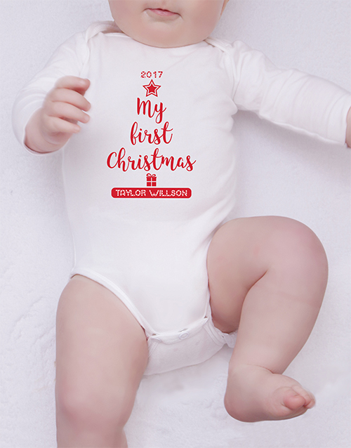 baby: Personalised Christmas Onesie!