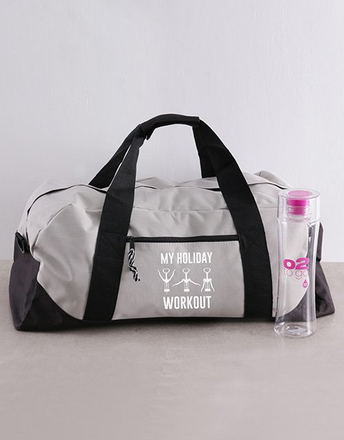 christmas: Personalised Holiday Workout Bag and Bottle!