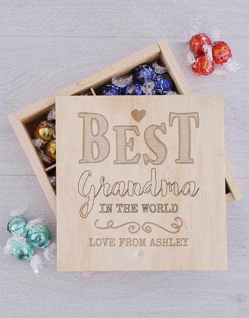 grandparents-day: Personalised Best Grandma Lindt Tray!