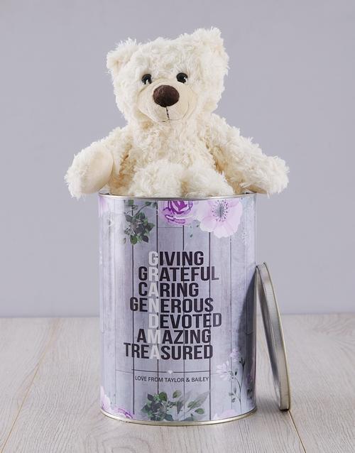 grandparents-day: Personalised Grandma Teddy Tin!