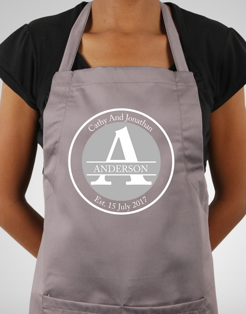 personalised: Personalised Family Name Apron!