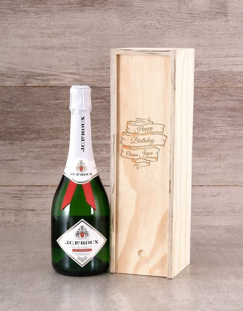 fine-alcohol: Personalised Birthday Champagne Crate!