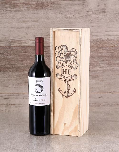 fine-alcohol: Sip Or Swim Wine Crate!