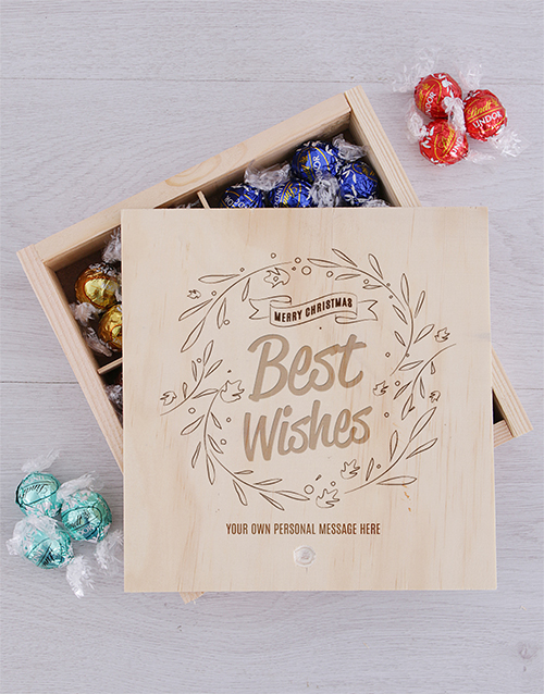 chocolate: Personalised Best Wishes Lindt Crate!