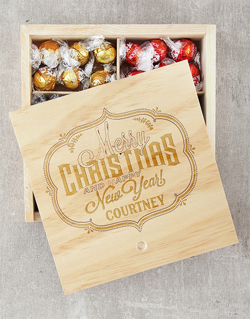chocolate: Personalised Merry Christmas Lindt Crate!