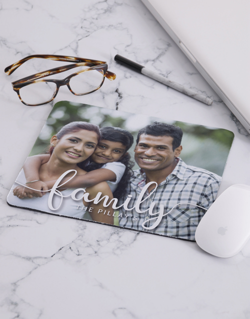 christmas: Personalised Family Photo Mouse Pad!
