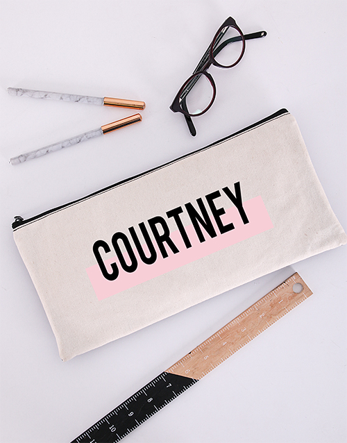 christmas: Personalised Two Tone Pencil Bag!