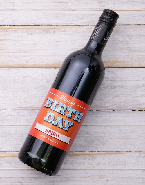 birthday: Happy Birthday Wine Personalised!