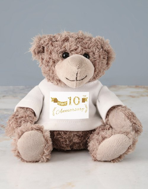 gifts: Personalised Anniversary Jersey Teddy!
