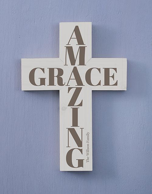home-decor: Personalised Amazing Grace Cross Wall Art!