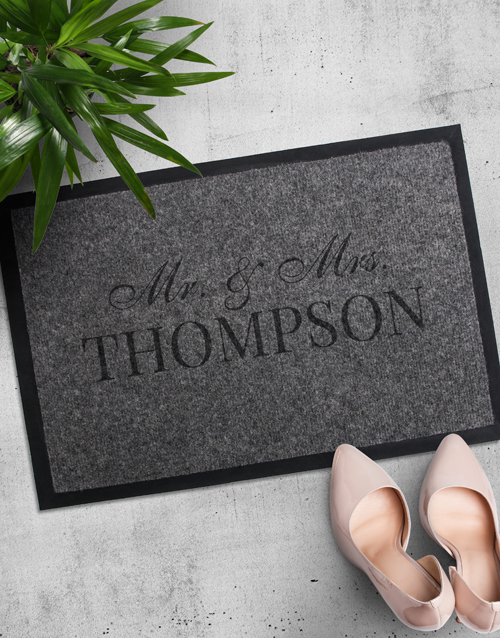 anniversary: Personalised Mr and Mrs Doormat!
