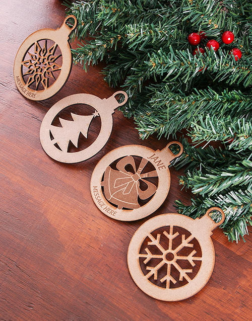 christmas: Personalised Wooden Christmas Decor!