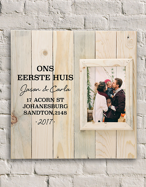 home-decor: Personalised First House Frame!