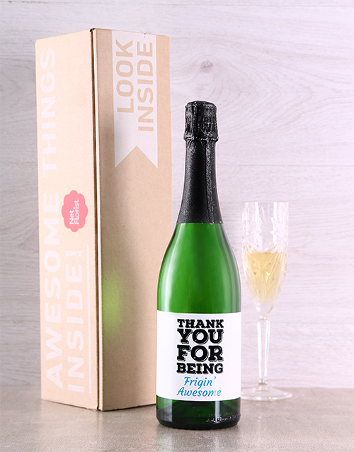 fine-alcohol: Thank You For Being Personalised Bubbly!
