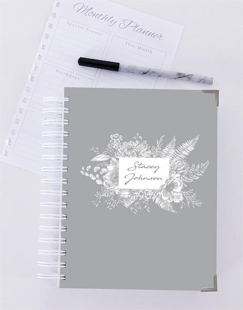 personalised: Personalised Floral Journal!