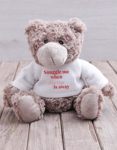 teddy-bears: Personalised Snuggle Me Teddy!