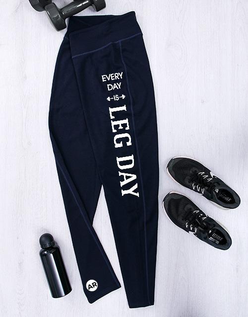 cyber-monday: Personalised Leg Day Gym Leggings!