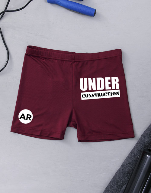 activewear: Personalised Under Construction Gym Hotpants!