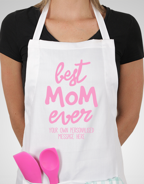 personalised: Personalised Best Mom Ever Apron!