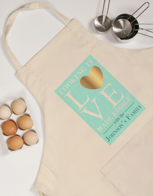 personalised: Personalised Cooking Is Love Apron!