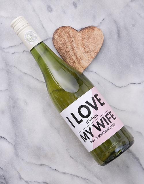 personalised: Personalised Wife Wine!