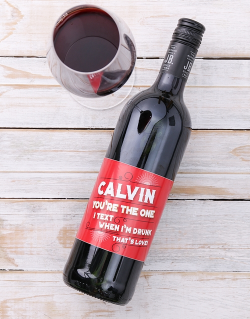 personalised: Personalised Text Love Wine!