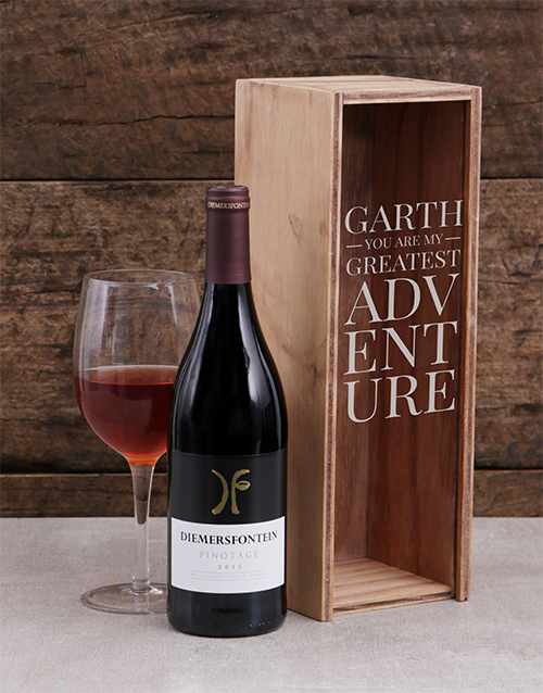 anniversary: Personalised My Adventure Wine Crate!