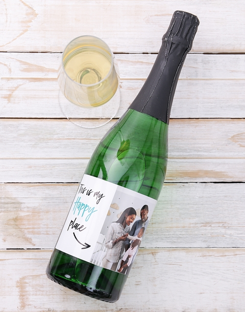 fine-alcohol: Personalised Happy Place Photo Wine!