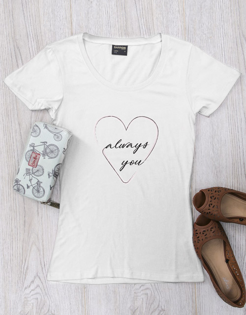 clothing: Personalised Heart Always T Shirt!
