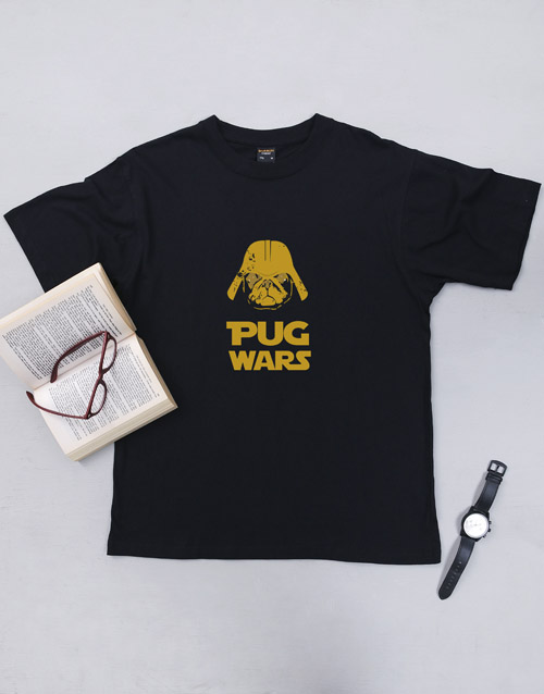 clothing: Personalised Pug Wars T Shirt!