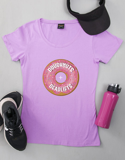 clothing: Personalised Dougnuts and Deadlifts T Shirt!