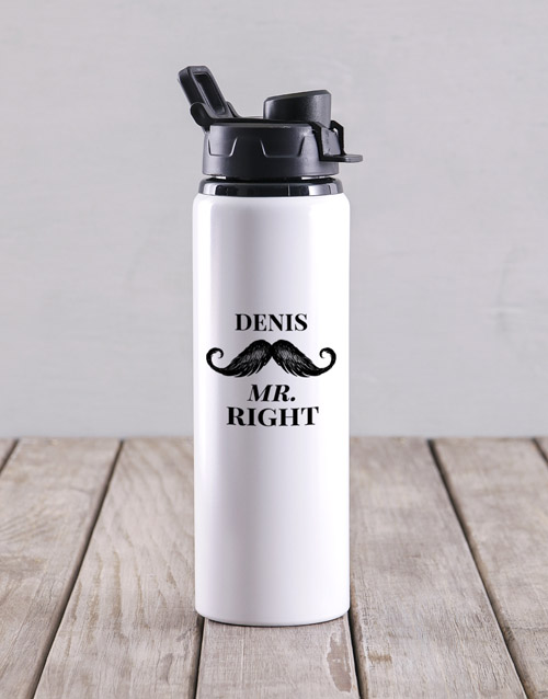 activewear: Personalised Mr Right Water Bottle!