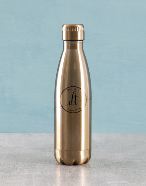 activewear: Personalised Initials Water Bottle!