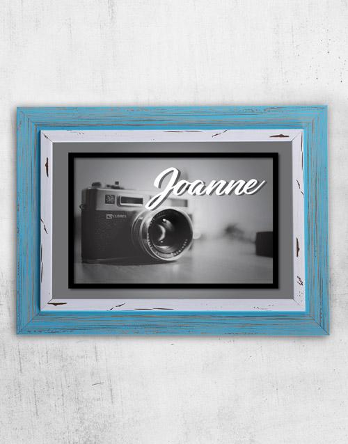 personalised: Personalised Vintage Camera Frame!