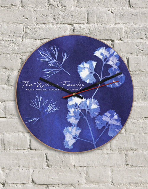 home-decor: Personalised MDF Strong Roots Clock!