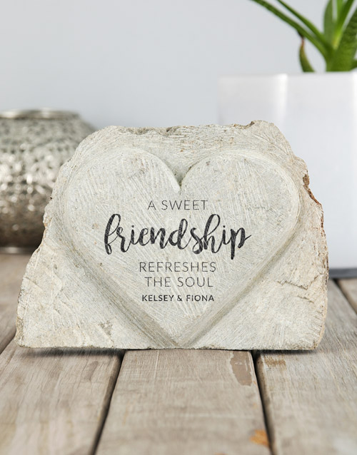 friendship: Personalised Sweet Friendship Stone Heart!