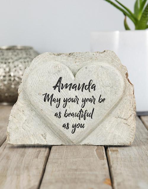 home-decor: Personalised Beautiful Birthday Stone Heart!