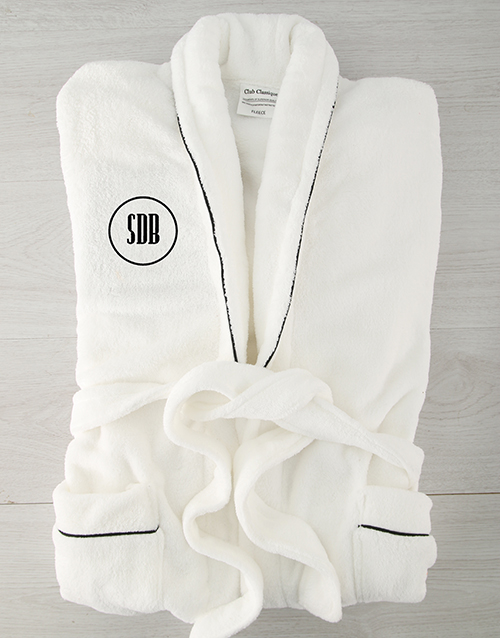 personalised: Personalised Circle Monogram Fleece Gown!