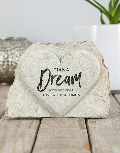 home-decor: Personalised Dream and Love Stone Heart!