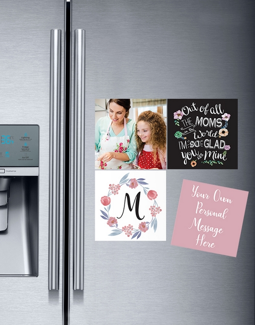 christmas: Personalised Of All the Moms Magnets!
