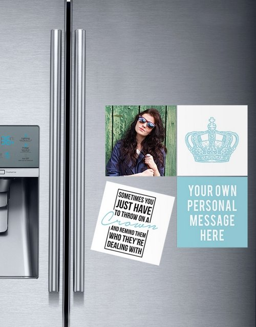 bosses-day: Personalised Wear Your Crown Magnets!