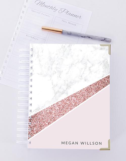 personalised: Personalised Marble Journal!