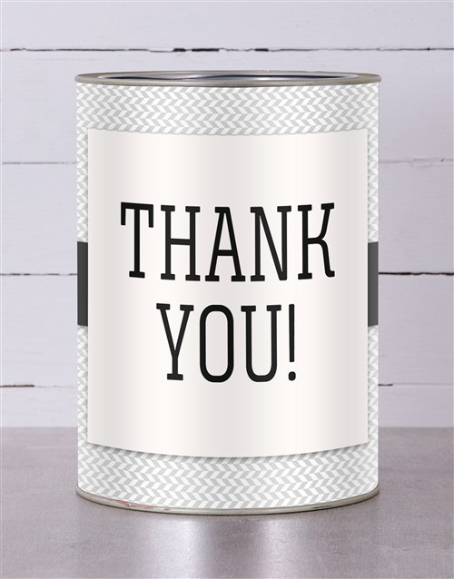 personalised: Personalised Bold Thank You Tin!