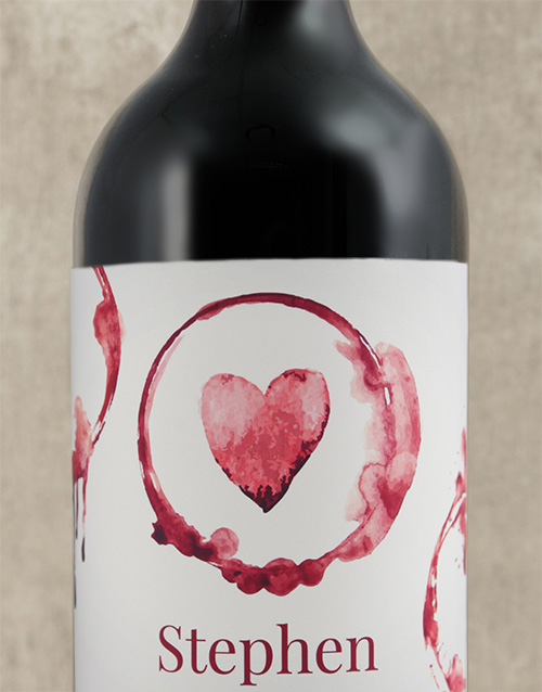 valentines-day: Personalised Heart Wine!