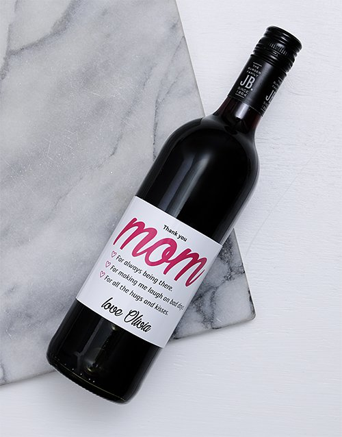 personalised: Thank You Mom Personalised Wine!