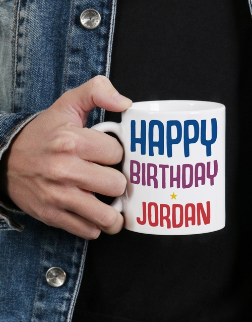 birthday: Personalised Rainbow Birthday Mug!